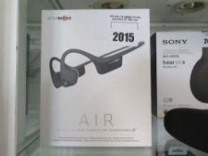 Aftershokz Air bone conduction headphones in box