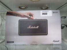 Marshall Stockwell bluetooth speaker with box