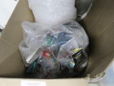 Tub containing a qty of misc. electrical accessories