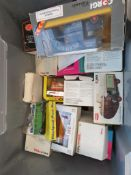 Box containing a qty of boxed die cast vehicles