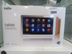 Cello 10'' quad core Android tablet with box