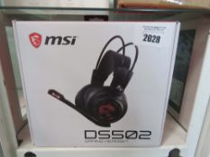 MSI PC gaming headset model DS502 in box