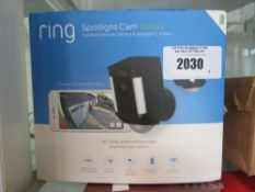Ring Spotlight Cam battery edition set with box