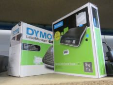 Dymo label manager together with Dymo 5kg usb digital scale