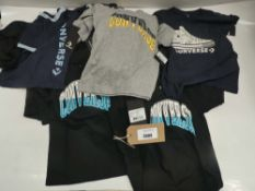 Bag of children's converse t-shirt in various styles and sizes