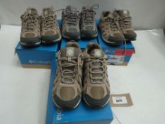 4 Pairs of Columbia redcrest waterproof trainers all size 5