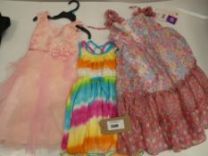 3 Jona Michelle dress in various styles ages 3, 4 and 10