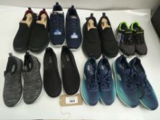 8 Pairs of unboxed sketchers trainers in various sizes