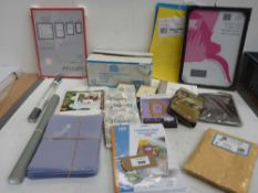 Till rolls, colour paper, window film, picture frames, notebooks, laminating pouches etc