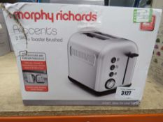 (41) Morphy Richard 2 slice toaster