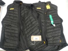 Two DeWalt workwear staunton gilets both size XL
