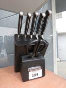Fabreware knife block and knife set