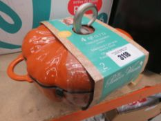 Timeless Gourds pumpkin shaped cast iron Dutch oven