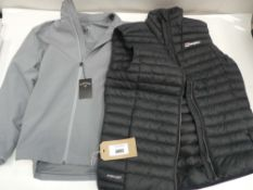 Berghaus gilet in navy size Large together with Callaway jacket size medium