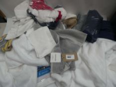 Bag containing kitchen towels, hand towels, bath towels and wash cloths