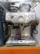 Unboxed Sage Barister Express coffee machine inc. the raiser, manual