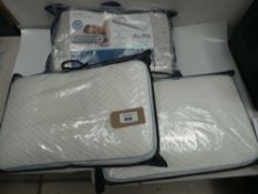 2 Snuggledown Cool touch memory foam pillows together with Dromeo Octasense pillow