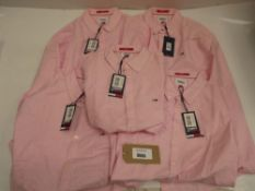 Bag of Tommy Hilfiger slim fit shirts in pink all size XL