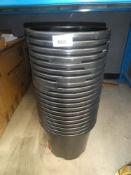 20x black plastic buckets