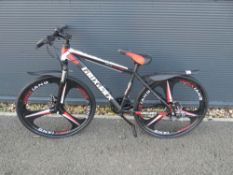 Lauxjack gents black mountain bike
