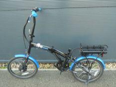 Foldup electric bike (no seat, no pedals)