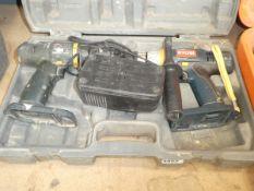 2 Ryobi drills no battery 1 charger
