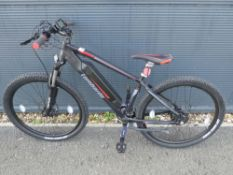 Lombardo black and red electric bike