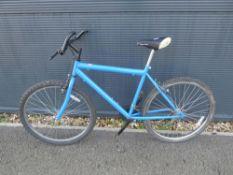 Blue gents mountain bike