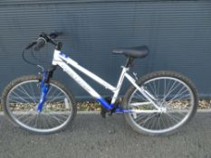 Challenge white and blue gents mountain bike