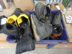 4076 - Box of chainsaw boots and safety boots