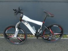 Extreme black and red gents mountain bike