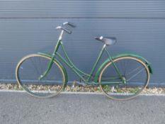 Green vintage ladies bike