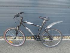 Giant black and white mountain bike