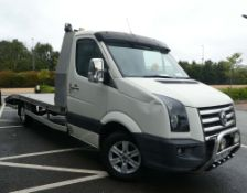 Volkswagen Crafter CR35 109 LWB recovery vehicle with AF Recovery aluminium 5 metre beavertail body,