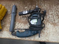 Small battery powered screwdriver and a drill