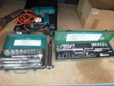 2 socket sets, a torque wrench and a Black and Decker drill
