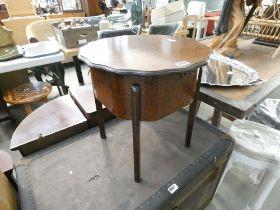 Oak sewing stool