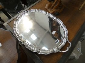 Large EPNS serving tray