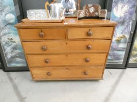 Two over three chest of drawers in pine