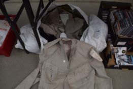 Bag of linen jackets and trousers