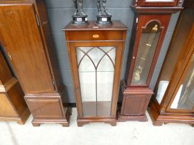 Glazed display cabinet in mahogany