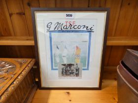 5041 Framed and glazed advertising poster of Marconi
