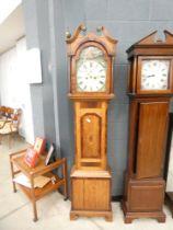 Oak cased Grandfather clock of Stamford