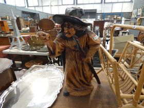 Resin figure of a witch (missing a finger)