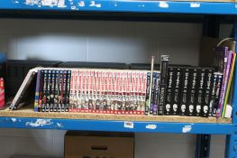 Selection of graphic novels and manga to include Death Note Black Edition 1-6 and Vampire Knight 1-