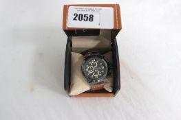 LA Banus gents chronograph watch with black face dial
