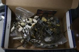 Selection of guitar machine head pick ups and strings