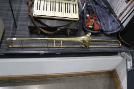 Besson & Co Class A News Standard trombone with vintage case and mouthpiece