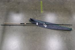 Korum 12 ft barrel quiver fishing rod with soft sleeve case