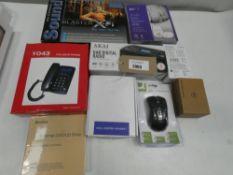 DAB Digital Radio, Audio baby monitor, PC mice, external DVD/CD drive, Sound Blaster X-Fi, etc